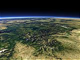 Die Yellowstone-Caldera von Südosten